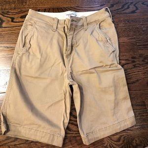Abercrombie Kids classic khaki shorts